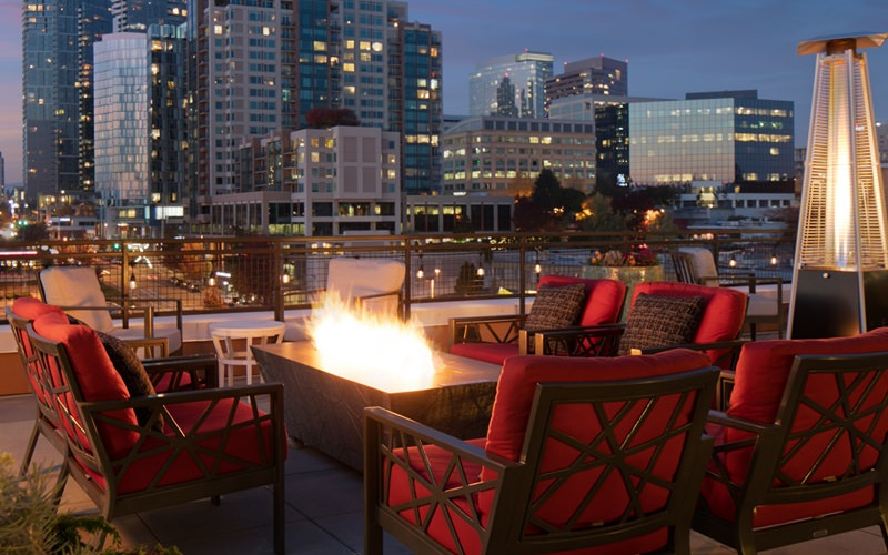 rooftop terrace fire pit