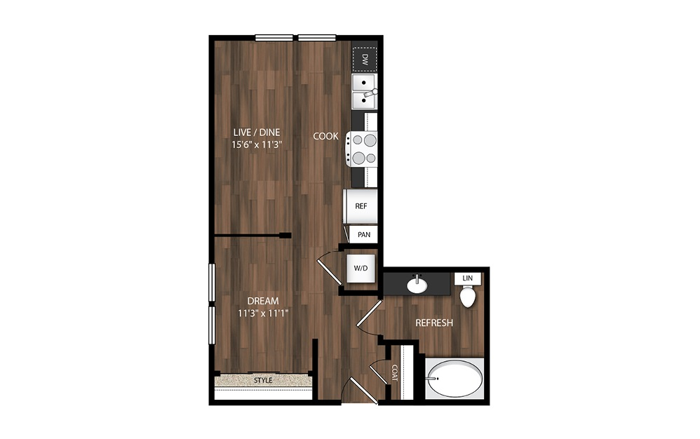 Urban 1 Bedroom S2.2/S2.2A